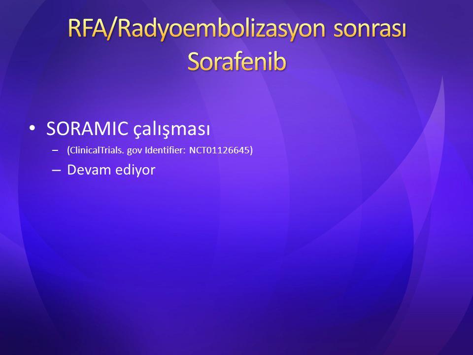 RFA/Radyoembolizasyon sonrası Sorafenib