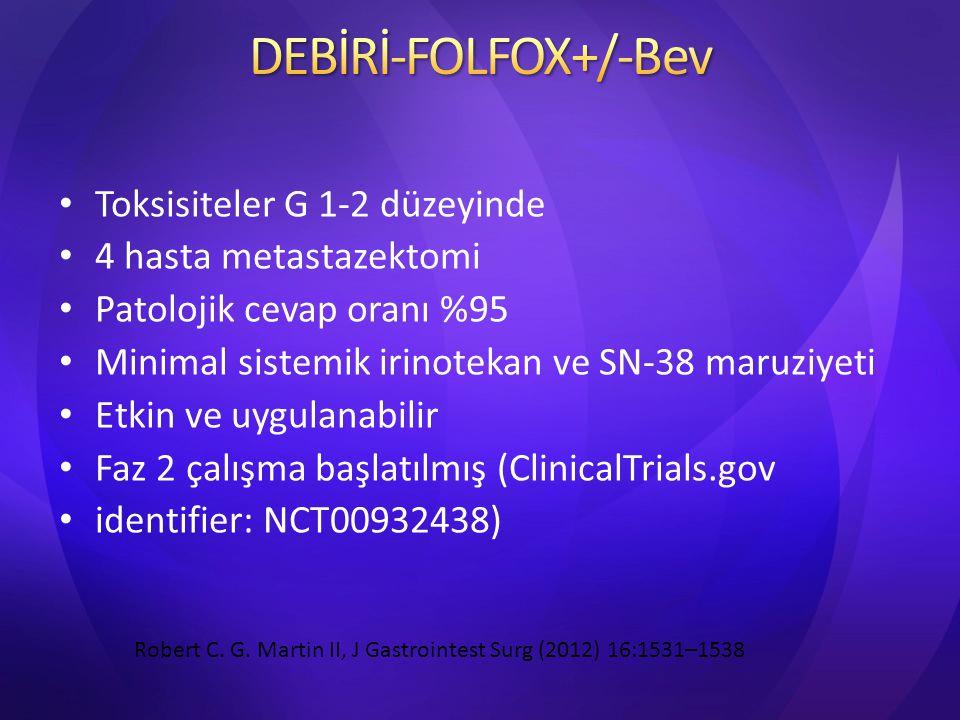 DEBİRİ-FOLFOX+/-Bev Toksisiteler G 1-2 düzeyinde