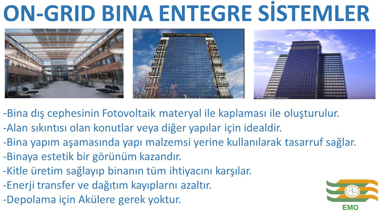 ON-GRID BINA ENTEGRE SİSTEMLER