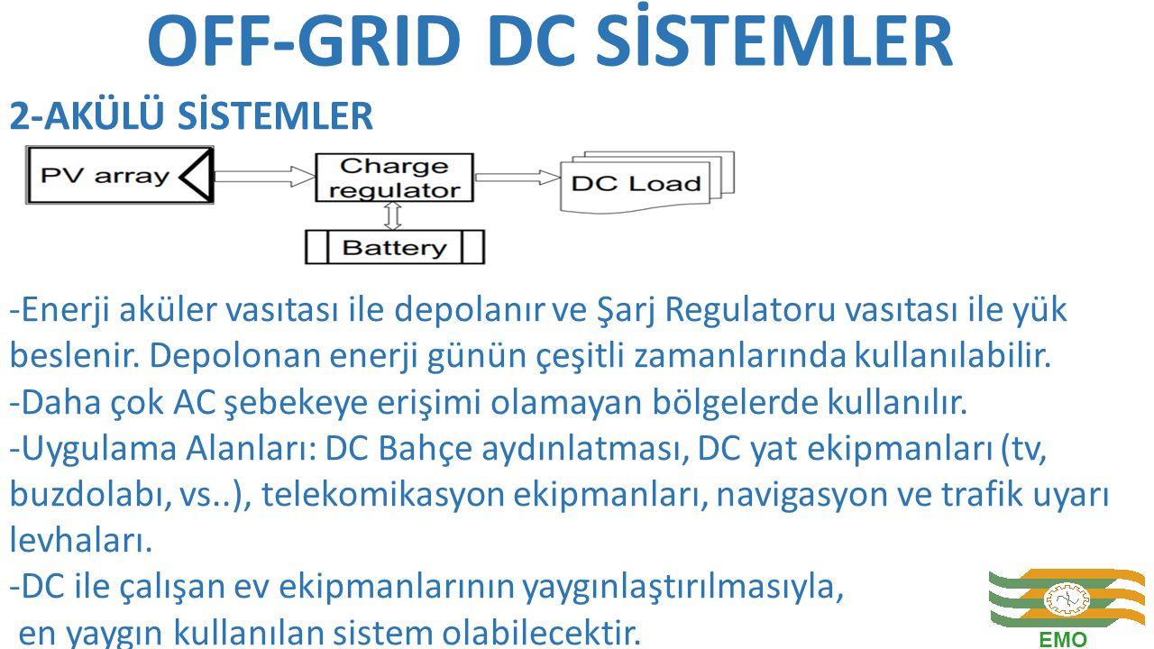 OFF-GRID DC SİSTEMLER 2-AKÜLÜ SİSTEMLER