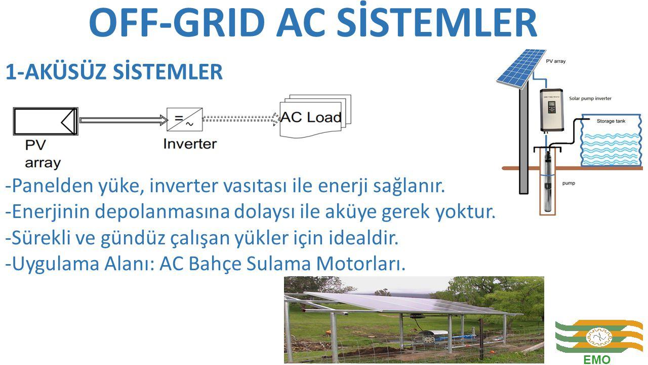 OFF-GRID AC SİSTEMLER 1-AKÜSÜZ SİSTEMLER