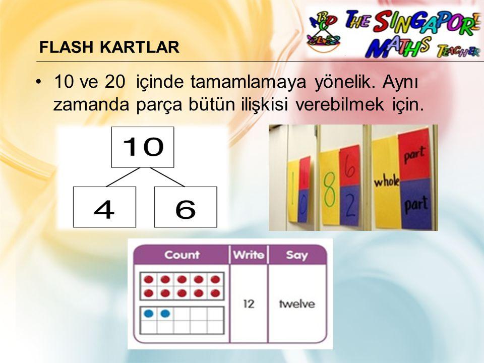 Flash KartLAR 10 ve 20 içinde tamamlamaya yönelik.