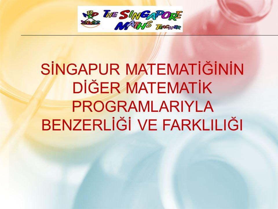 Sİngapur MatematİğİNİN dİğer matematİk programlarIyla benzerlİğİ ve farKlIlIğI