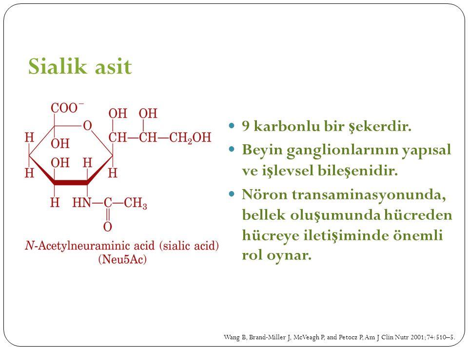 Sialik asit 9 karbonlu bir şekerdir.