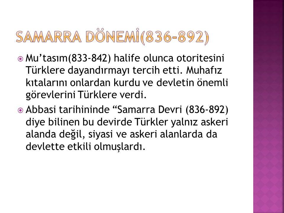 Samarra DÖNEMİ(836-892)
