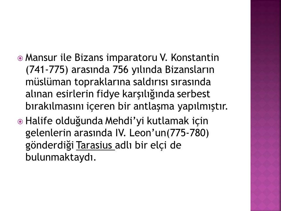 Mansur ile Bizans imparatoru V