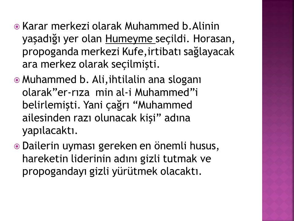 Karar merkezi olarak Muhammed b