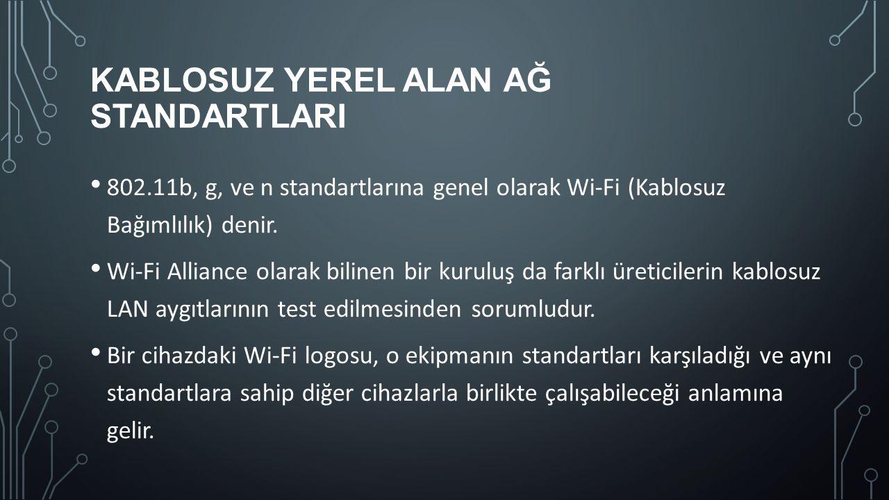Kablosuz Yerel Alan Ağ StandartlarI