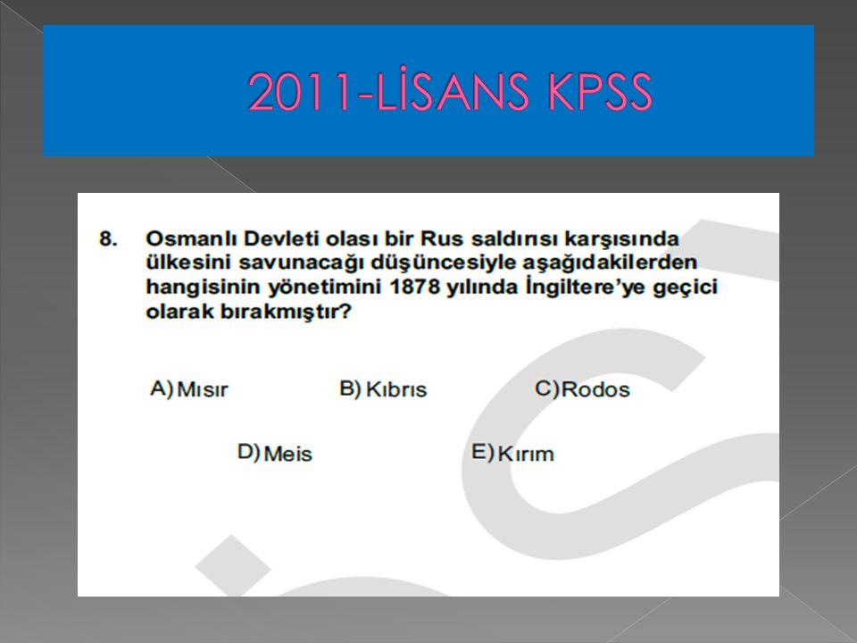 2011-LİSANS KPSS