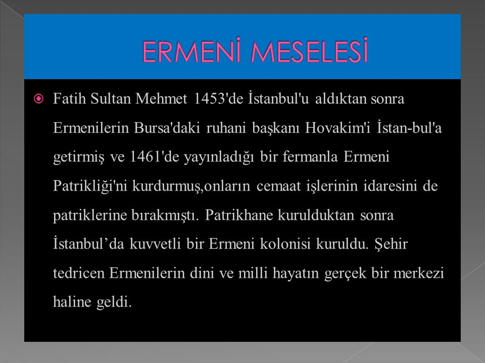 ERMENİ MESELESİ