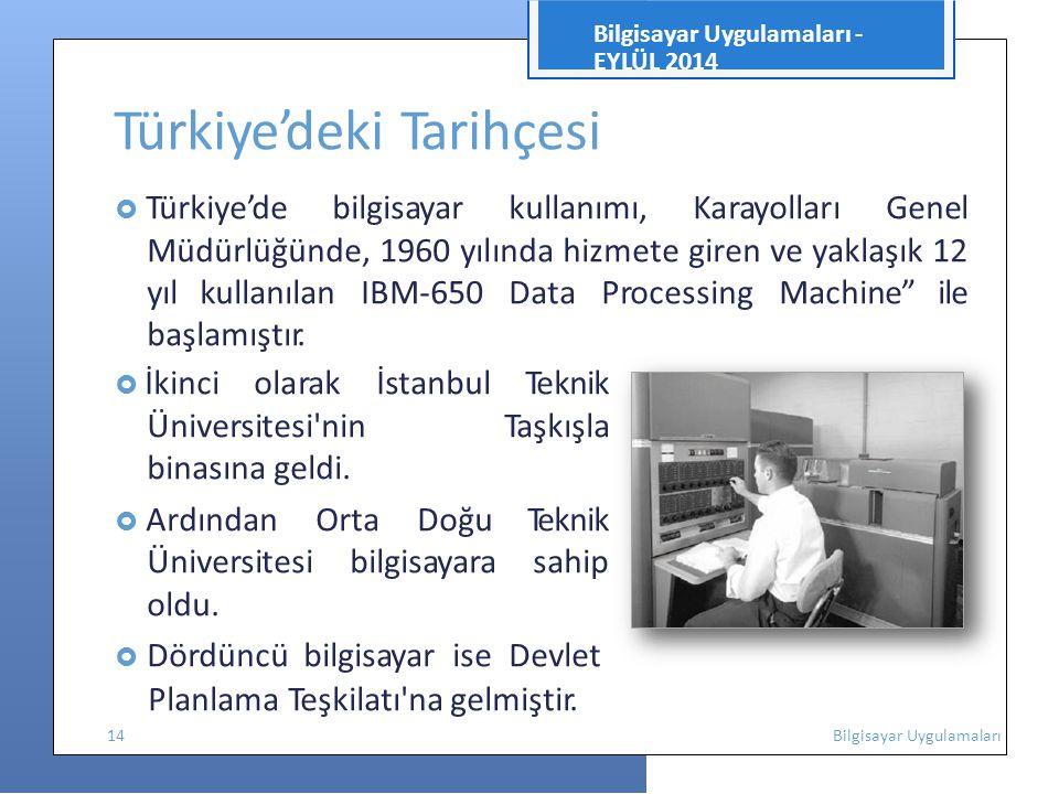 Türkiye'deki Tarihçesi