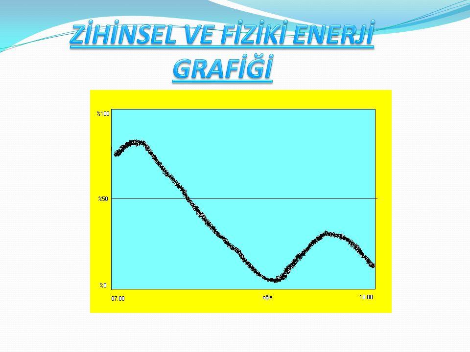 ZİHİNSEL VE FİZİKİ ENERJİ GRAFİĞİ
