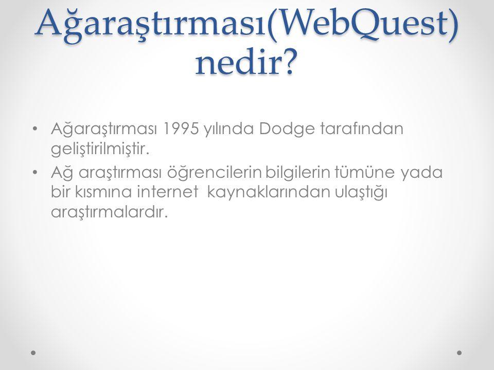 Ağaraştırması(WebQuest)nedir