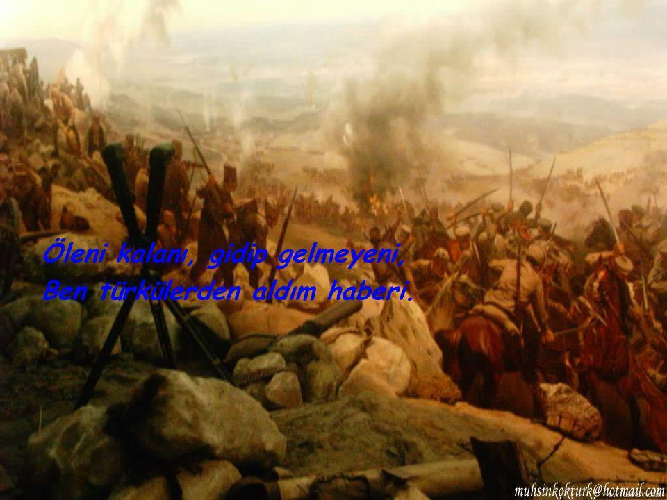 Öleni kalanı, gidip gelmeyeni, Ben türkülerden aldım haberi.