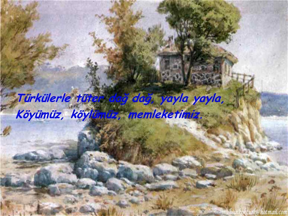 Türkülerle tüter dağ dağ, yayla yayla,