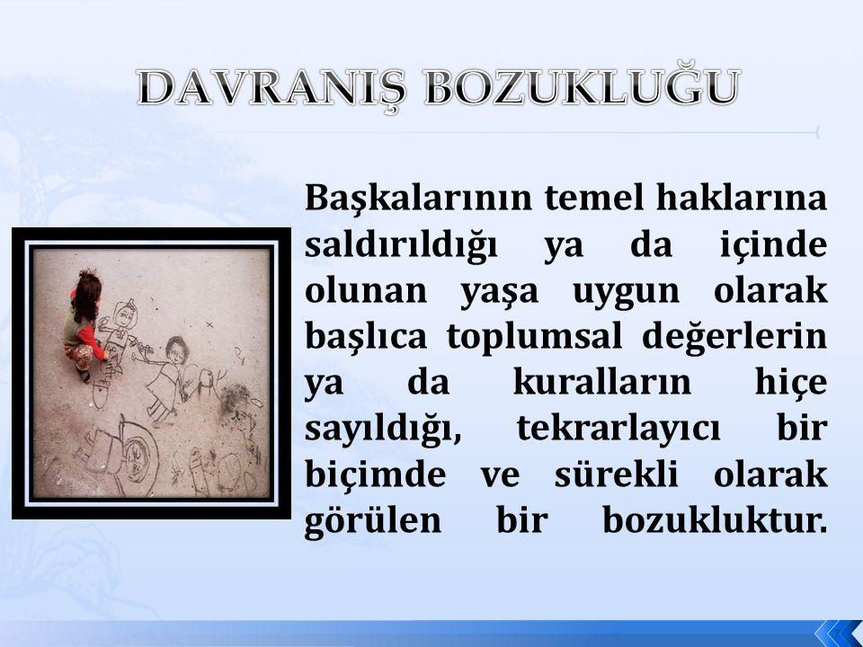 DAVRANIŞ BOZUKLUĞU