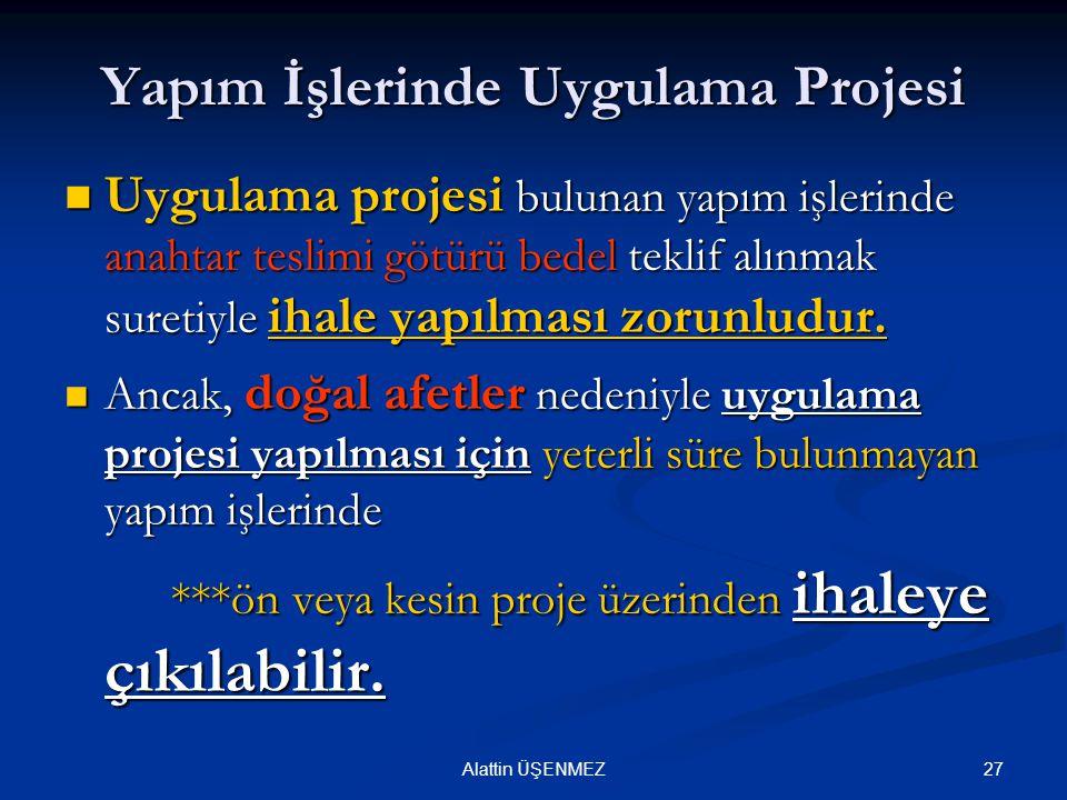 Yapım İşlerinde Uygulama Projesi