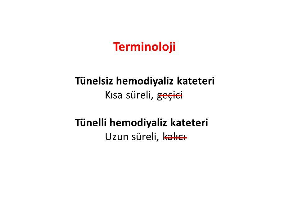 Terminoloji Tünelsiz hemodiyaliz kateteri Kısa süreli, geçici
