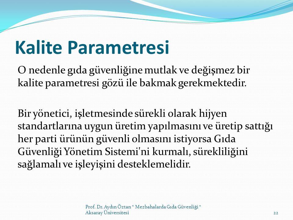 Kalite Parametresi