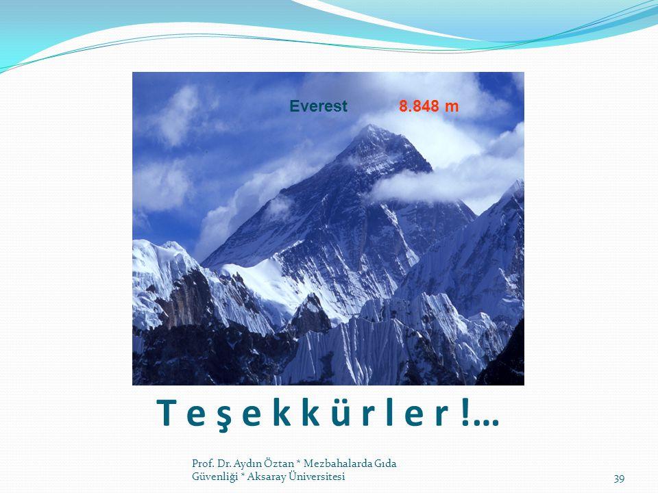T e ş e k k ü r l e r !… Everest 8.848 m