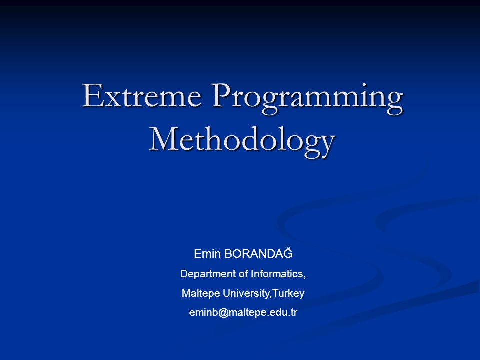 Extreme Programming Methodology