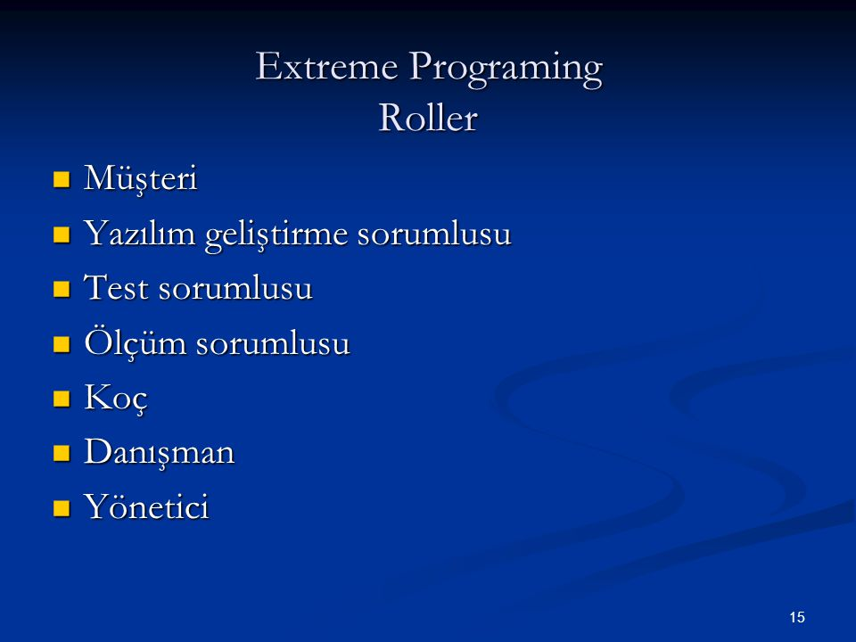 Extreme Programing Roller