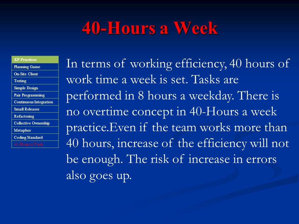 40-Hours a Week