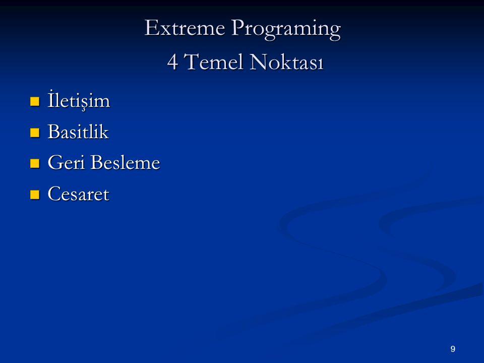 Extreme Programing 4 Temel Noktası