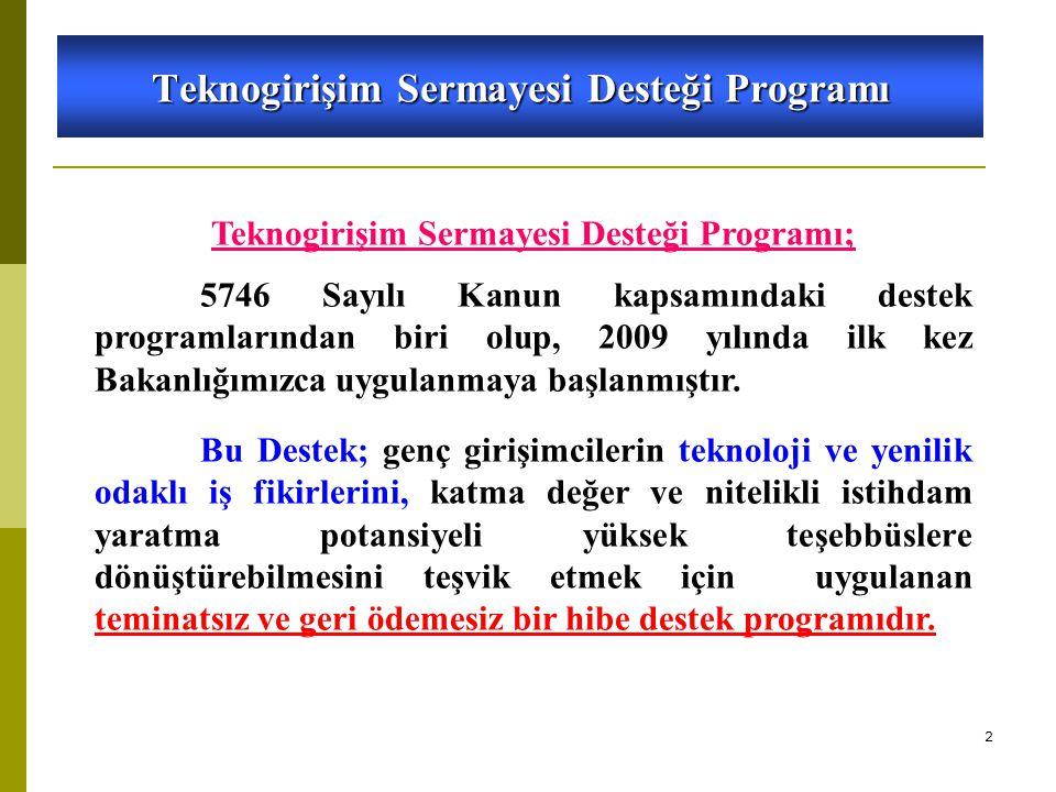 Teknogirişim Sermayesi Desteği Programı