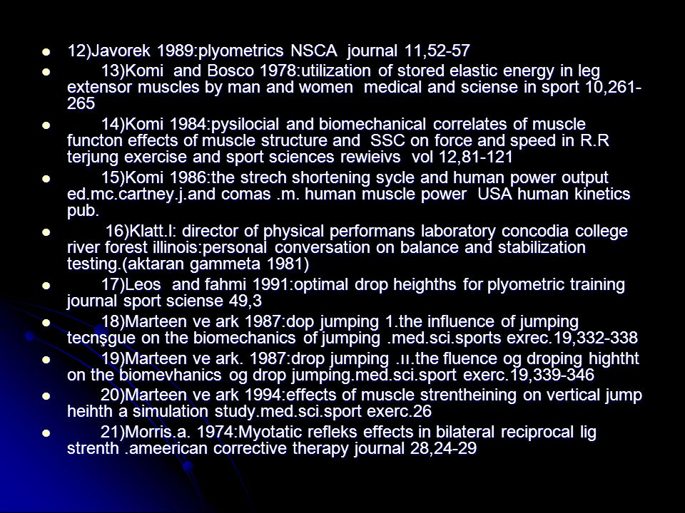12)Javorek 1989:plyometrics NSCA journal 11,52-57