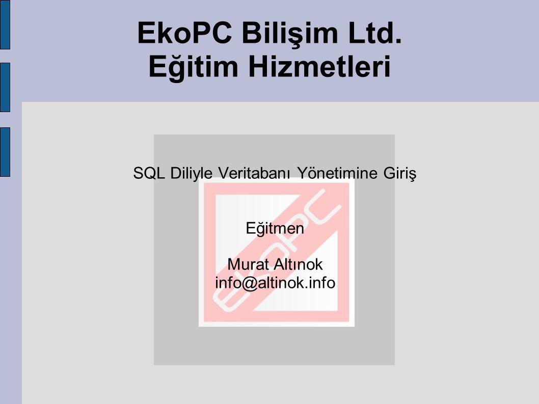 EkoPC Bilişim Ltd. Eğitim Hizmetleri