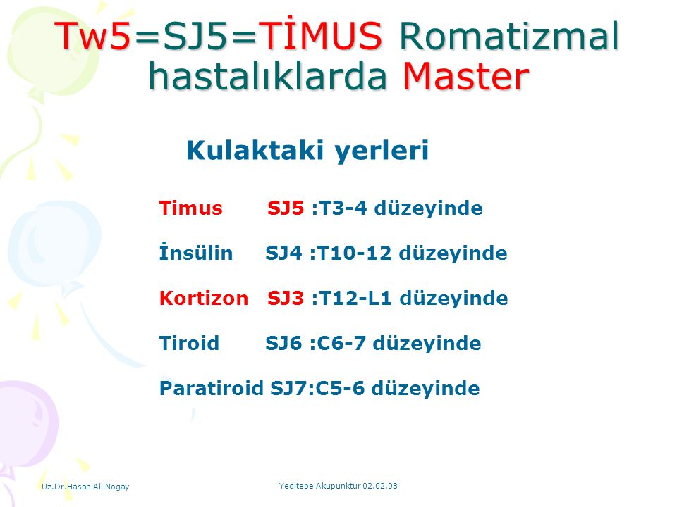 Tw5=SJ5=TİMUS Romatizmal hastalıklarda Master