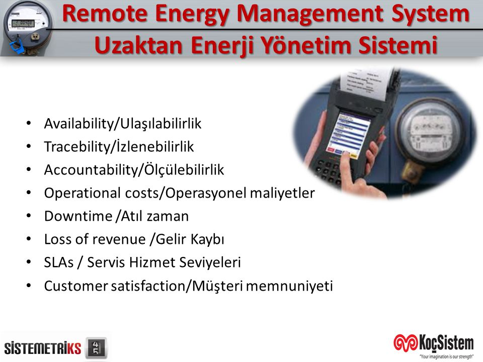 Remote Energy Management System Uzaktan Enerji Yönetim Sistemi