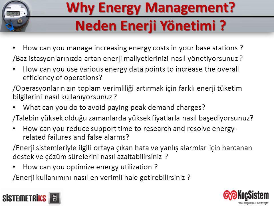 Why Energy Management Neden Enerji Yönetimi