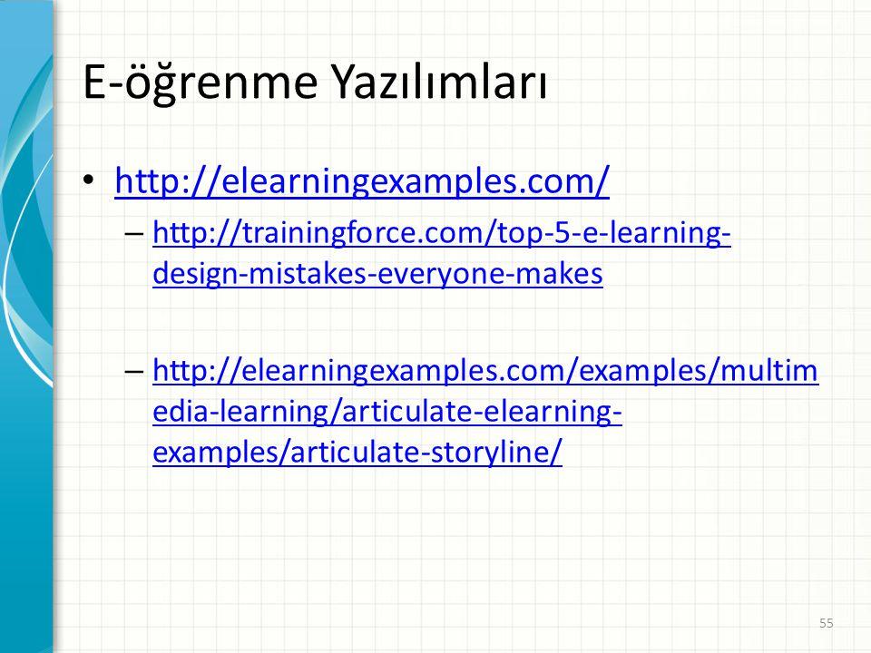 E-öğrenme Yazılımları