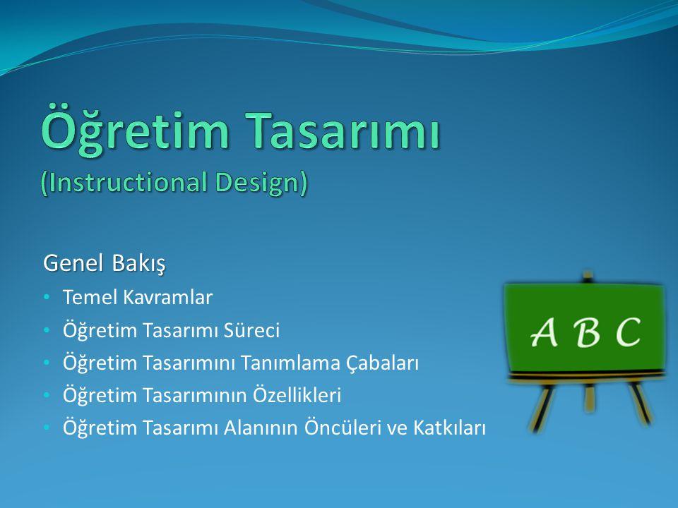 Öğretim Tasarımı (Instructional Design)