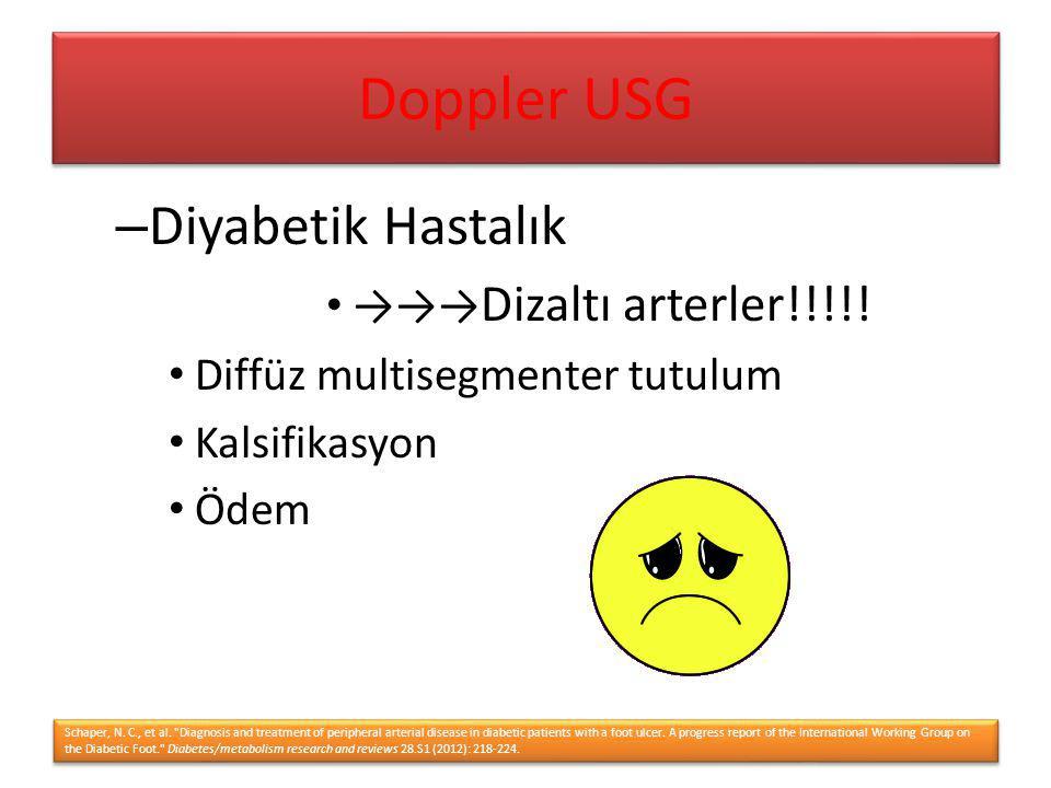 Doppler USG Diyabetik Hastalık →→→Dizaltı arterler!!!!!