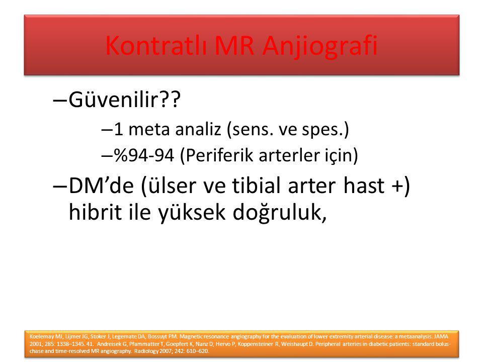 Kontratlı MR Anjiografi