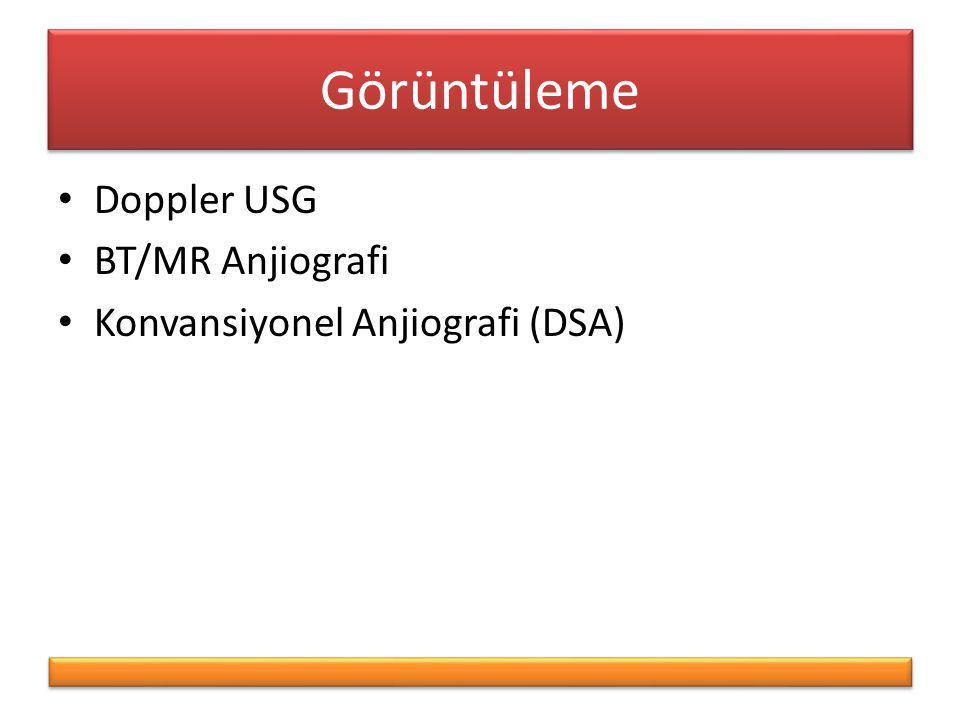 Görüntüleme Doppler USG BT/MR Anjiografi