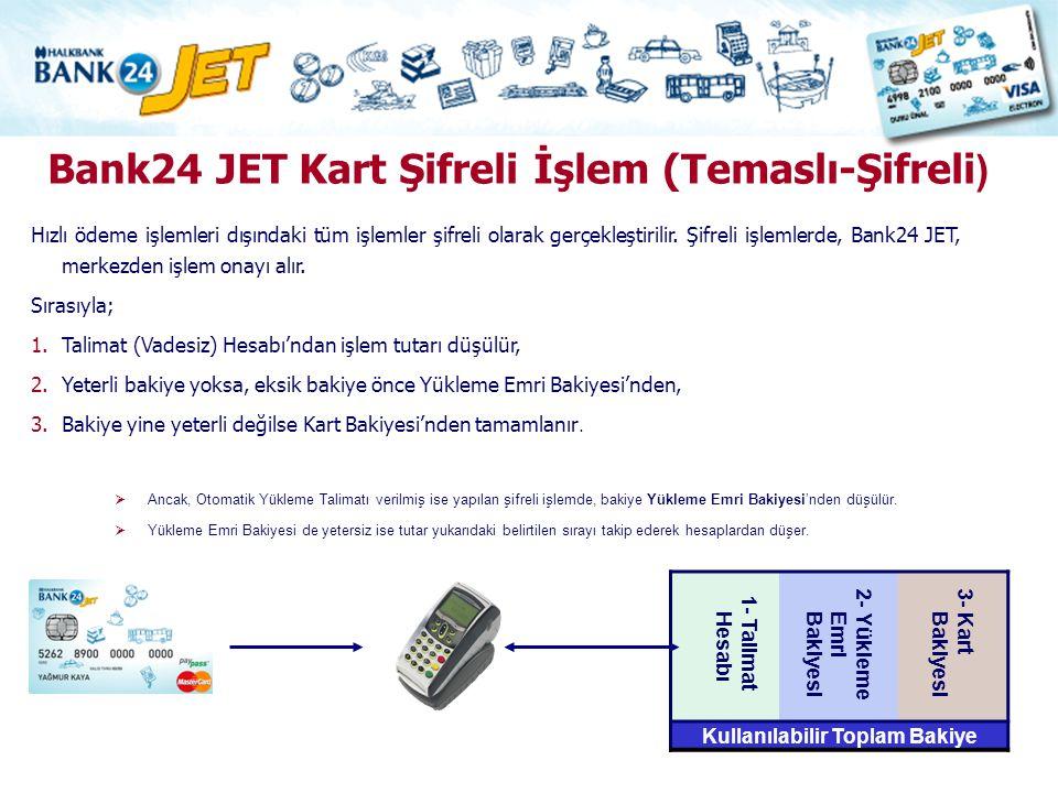 Bank24 JET Kart Şifreli İşlem (Temaslı-Şifreli)