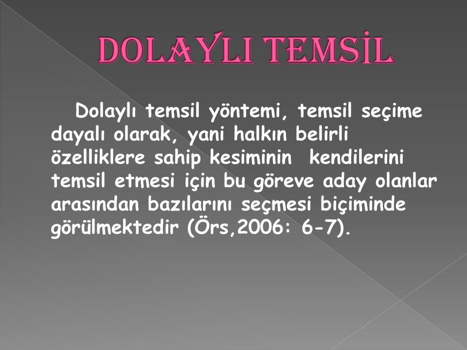 DOLAYLI TEMSİL