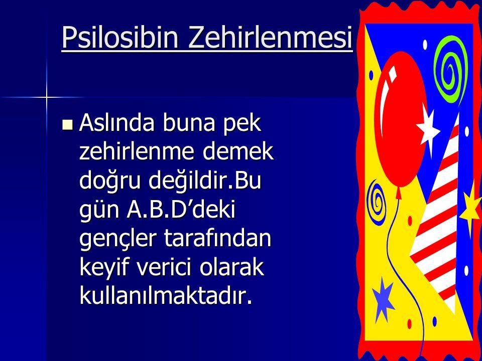 Psilosibin Zehirlenmesi