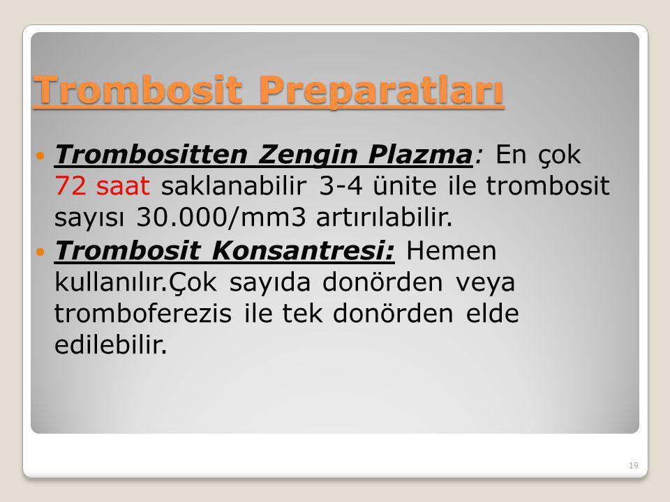 Trombosit Preparatları