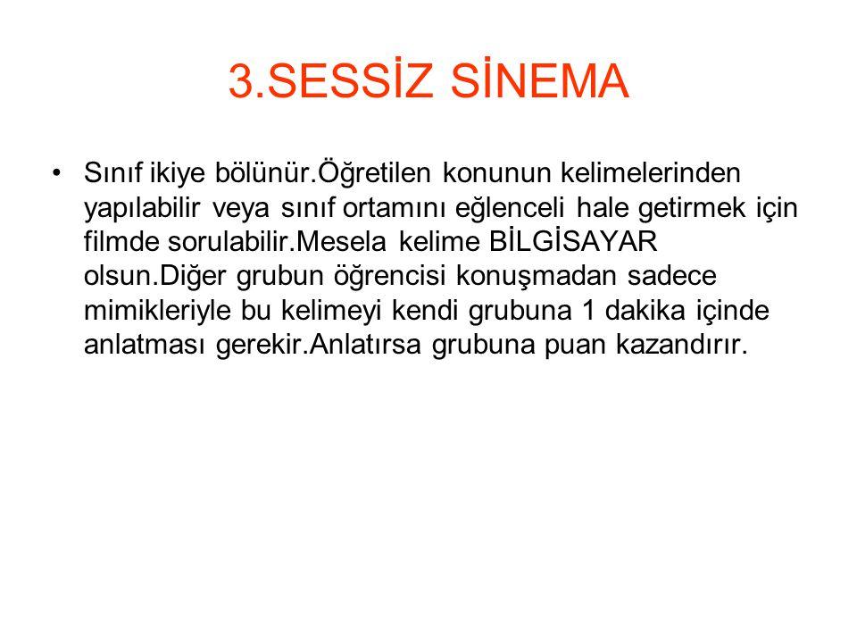 3.SESSİZ SİNEMA