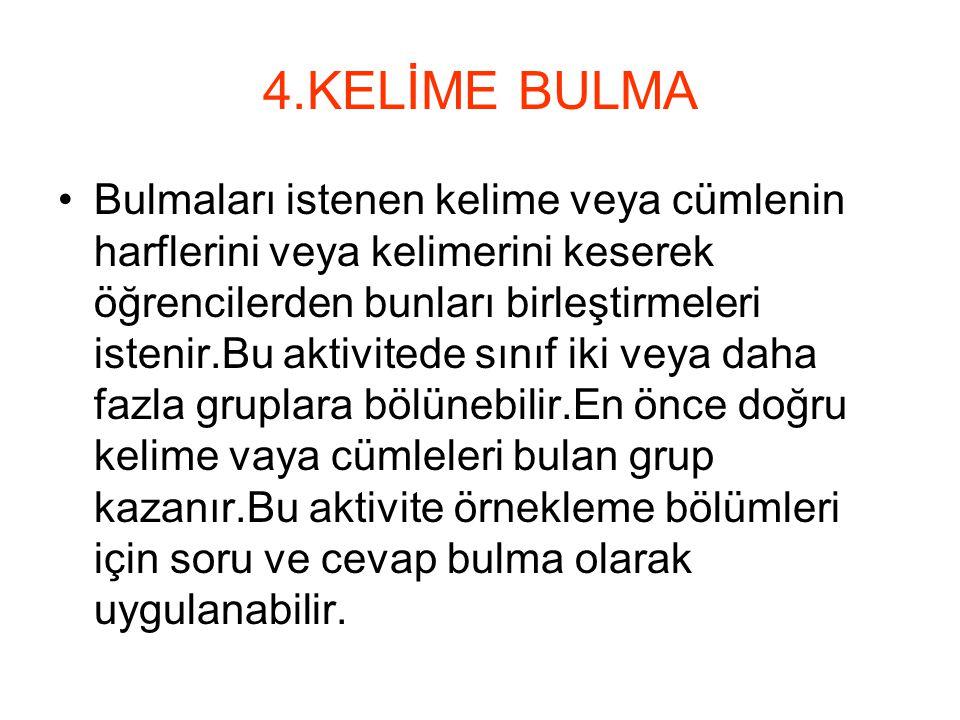 4.KELİME BULMA