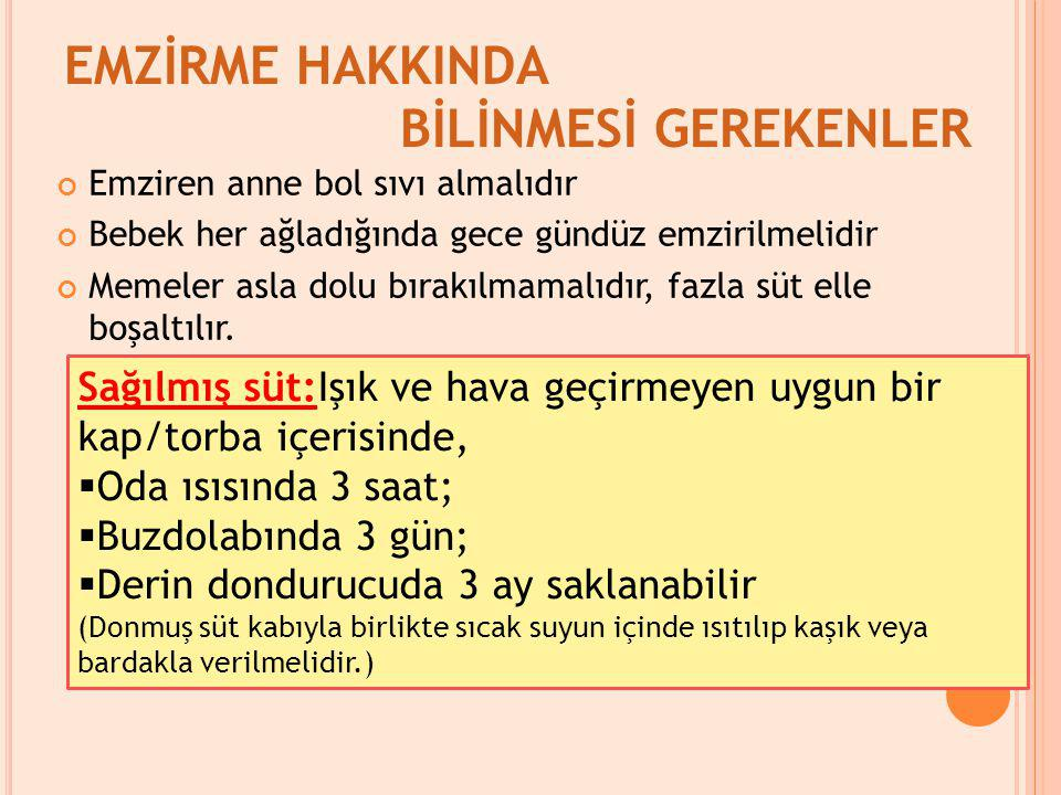 EMZİRME HAKKINDA BİLİNMESİ GEREKENLER