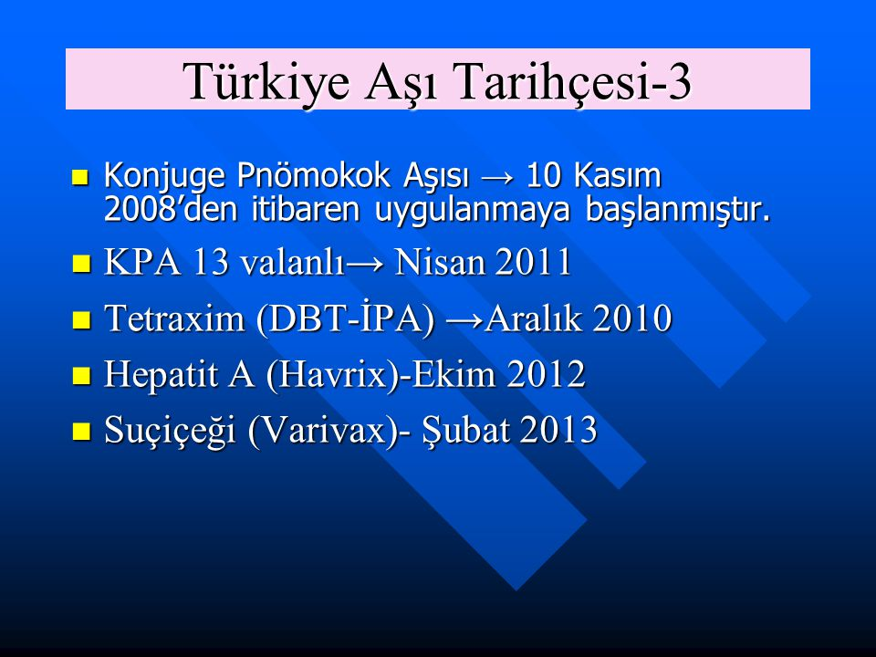 Türkiye Aşı Tarihçesi-3