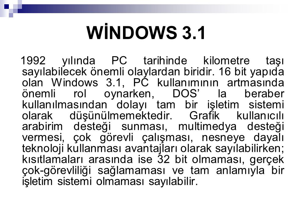 WİNDOWS 3.1