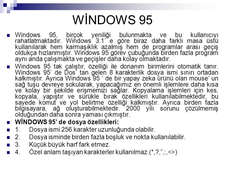 WİNDOWS 95