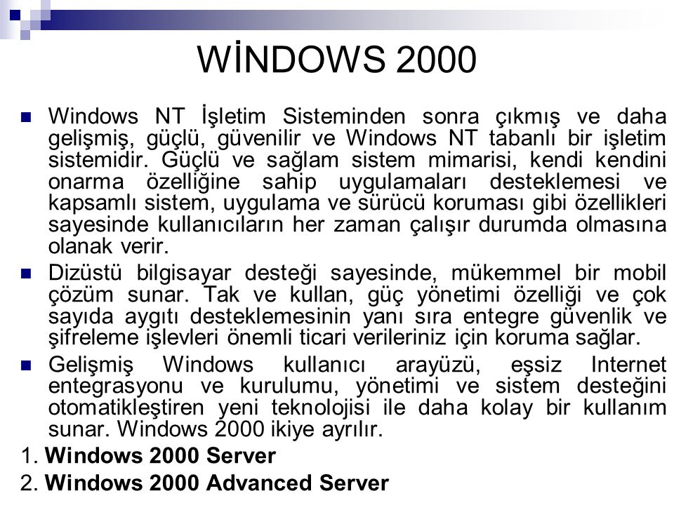 WİNDOWS 2000